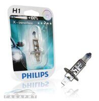 Автолампа H1 PHILIPS 12-55W +100%  X-TREME VISION 1шт в блистере