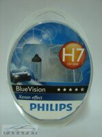 Автолампа H7 PHILIPS 12-55 BLUE VISION 2шт