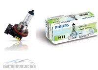 Автолампа H11 PHILIPS 12-55W LongLife Eco Vision