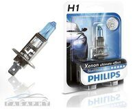 Автолампа H1 PHILIPS 12-55W Blue Vision ultra блистер