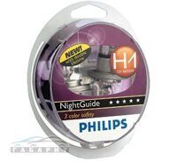 Автолампа H1 PHILIPS 12-55 NIGHT GUIDE DOUBLE  LIFE 2шт