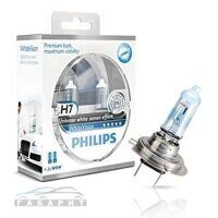 Автолампа H7 PHILIPS 12-55 WHITE VISION  2шт BOX
