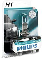 Автолампа H1 PHILIPS 12-55W +130%  X-TREME VISION 1шт в блистере