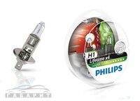 Автолампа H1 PHILIPS 12-55W LongLife Eco Vision 2шт ЕВРОБОКС