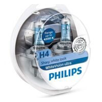 Автолампа H4 PHILIPS 12-55 WHITE VISION ULTRA  2шт